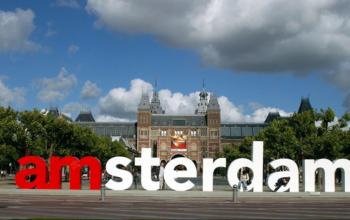 letters I amsterdam voor het Rijksmuseum